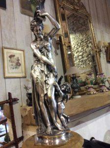 Femme à l'Antique bronze argenté XIX
